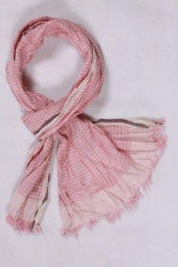 24ca62ac9cb Chèche coton petits carreaux rose et blanc