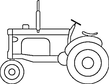 Tractor coloring page | Tera | Pinterest | Tractor, Template and ...