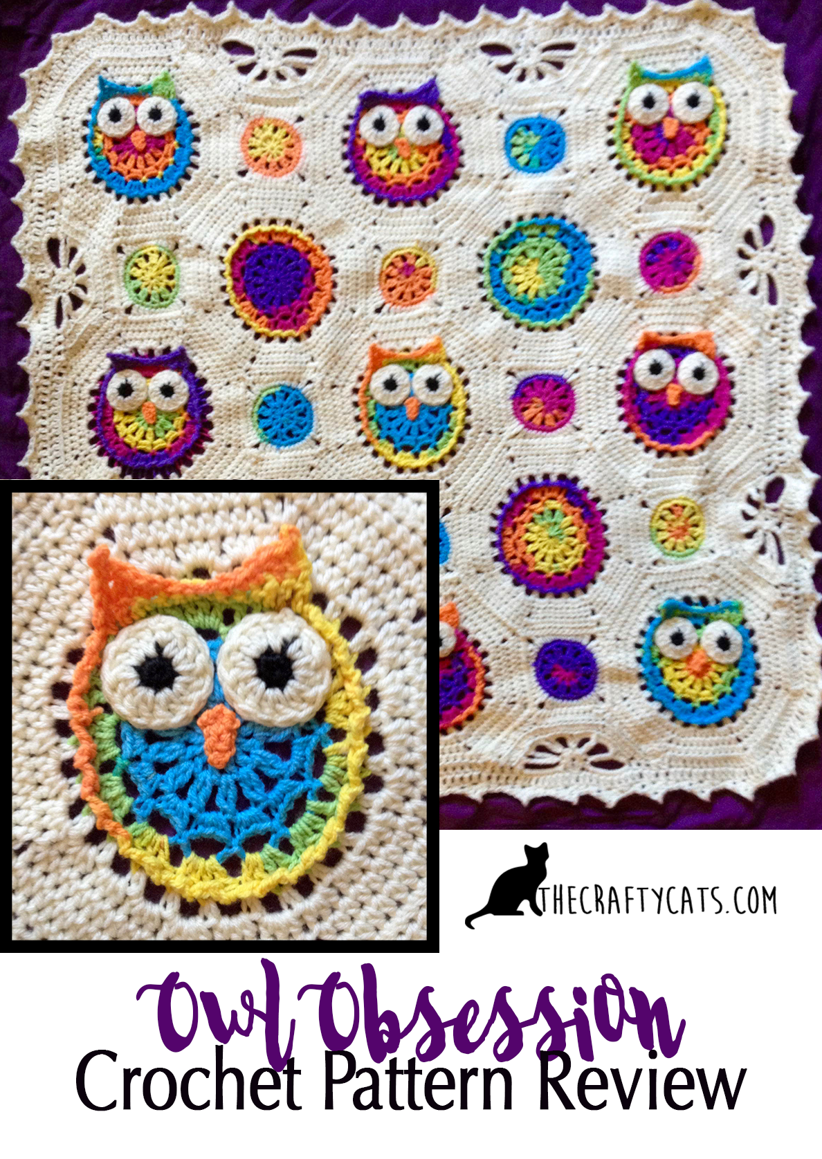 Owl obsession blanket owl and crochet a crochet pattern review owl obsession baby blanket bankloansurffo Image collections