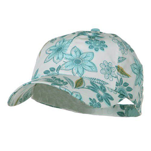 MG Low Profile Flower Print Cap - Turquoise