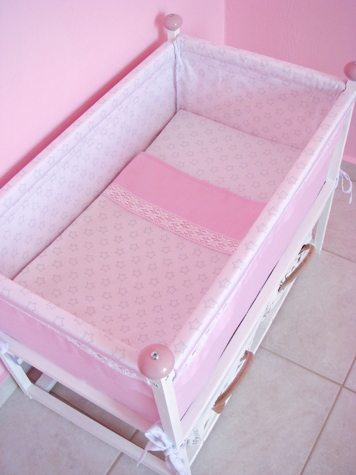 Diy Doll Basinet Crib Bed With Matching Doll Blanket