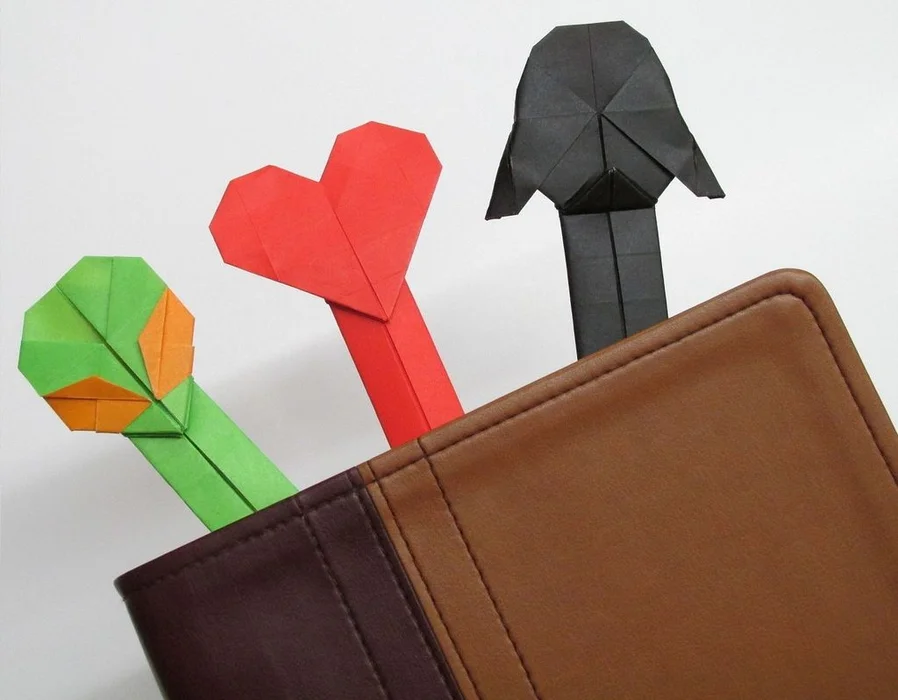 Photo of Amazing Origami Bookmarks: Darth Vader, Alien, and Heart (with Videos)