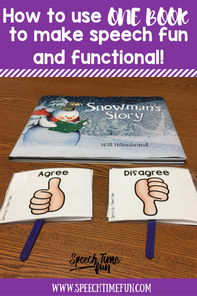 How to use one book to make speech fun and functional
