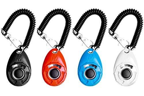 ★A brand new happy communication mode with the pet. Great for training puppies and young adult dogs! ★Fits nicely in your hand, it has elastic wrist strap so you don't drop it. ★Button presses easily and comes right back up without getting stuck, good sound, not to loud or soft. ★The Clicker can not only train the dog but also the cat, bird, chicken, sheep and even mouse. ★100% MONEY BACK GUARANTEE & LIFETIME WARRANTY. Don't miss! Big button clickers for clicker training dogs, cats, horses,