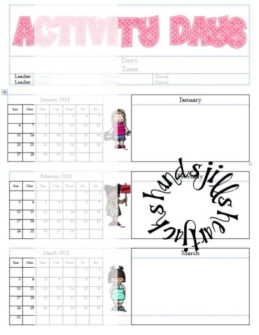 Calendar Ideas Primary : Activity days calendar daily lds deals pinterest