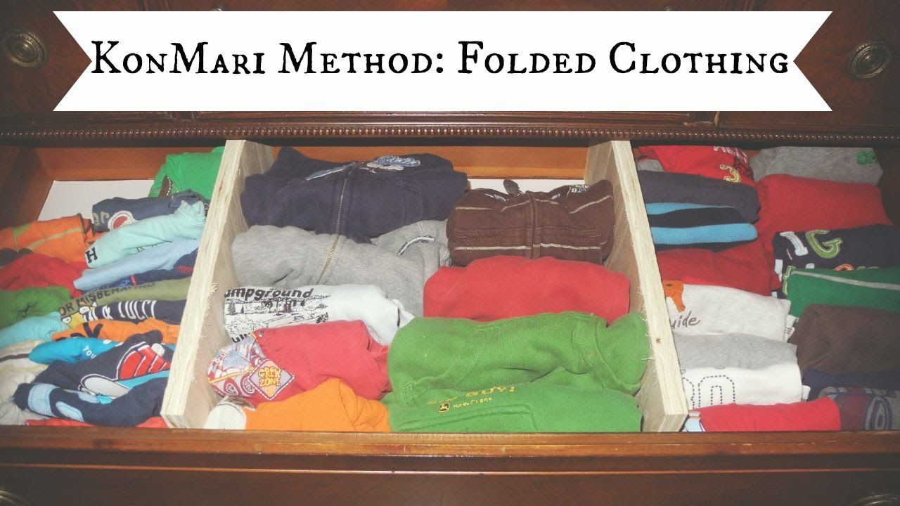 Konmari Method Folded Clothing Diy Drawer Dividers Diy