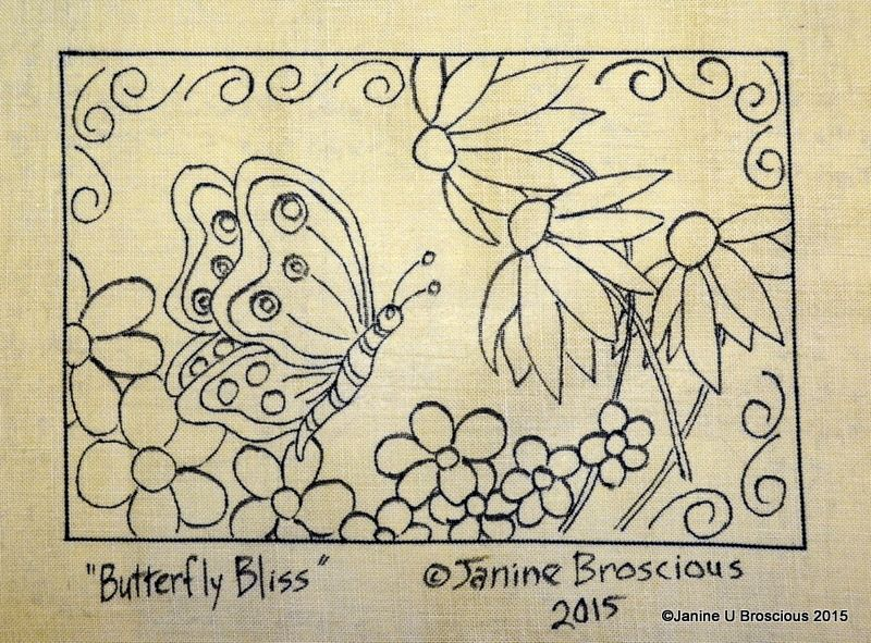 Butterfly Bliss Rug Hooking Pattern by Janine Broscious