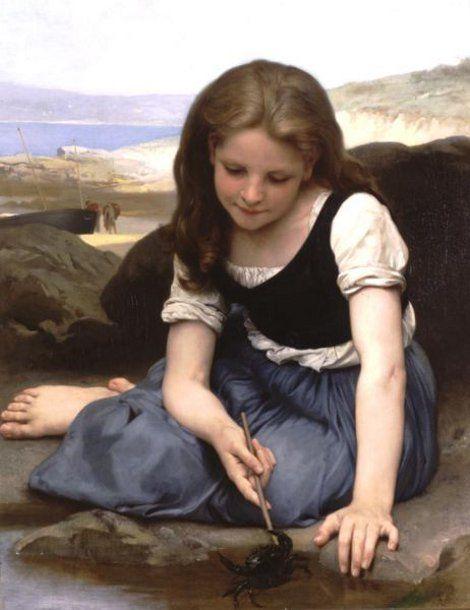 Le crabe-William Adolphe Bouguereau (1825 – 1905, French)