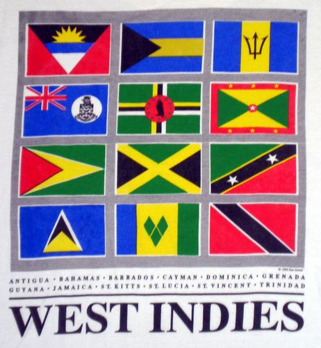 Flag Of West Indies Left To Right Antigua Bahamas Barbados Cayman