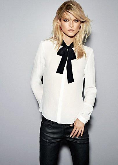 511930a0e Camisa de mujer blanca MAS moño | camisa blanca | Blusas blancas ...