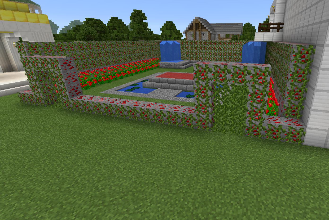 Minecraft Rose Garden