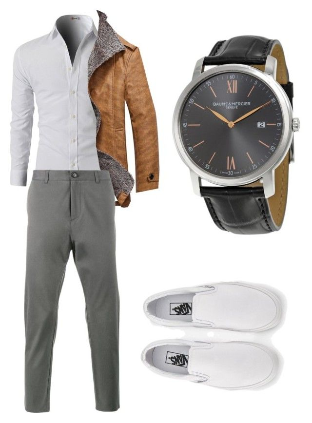 """""""Untitled #27"""" by josiane-galley on Polyvore featuring Vans, Lot78, Baume & Mercier, men's fashion and menswear"""