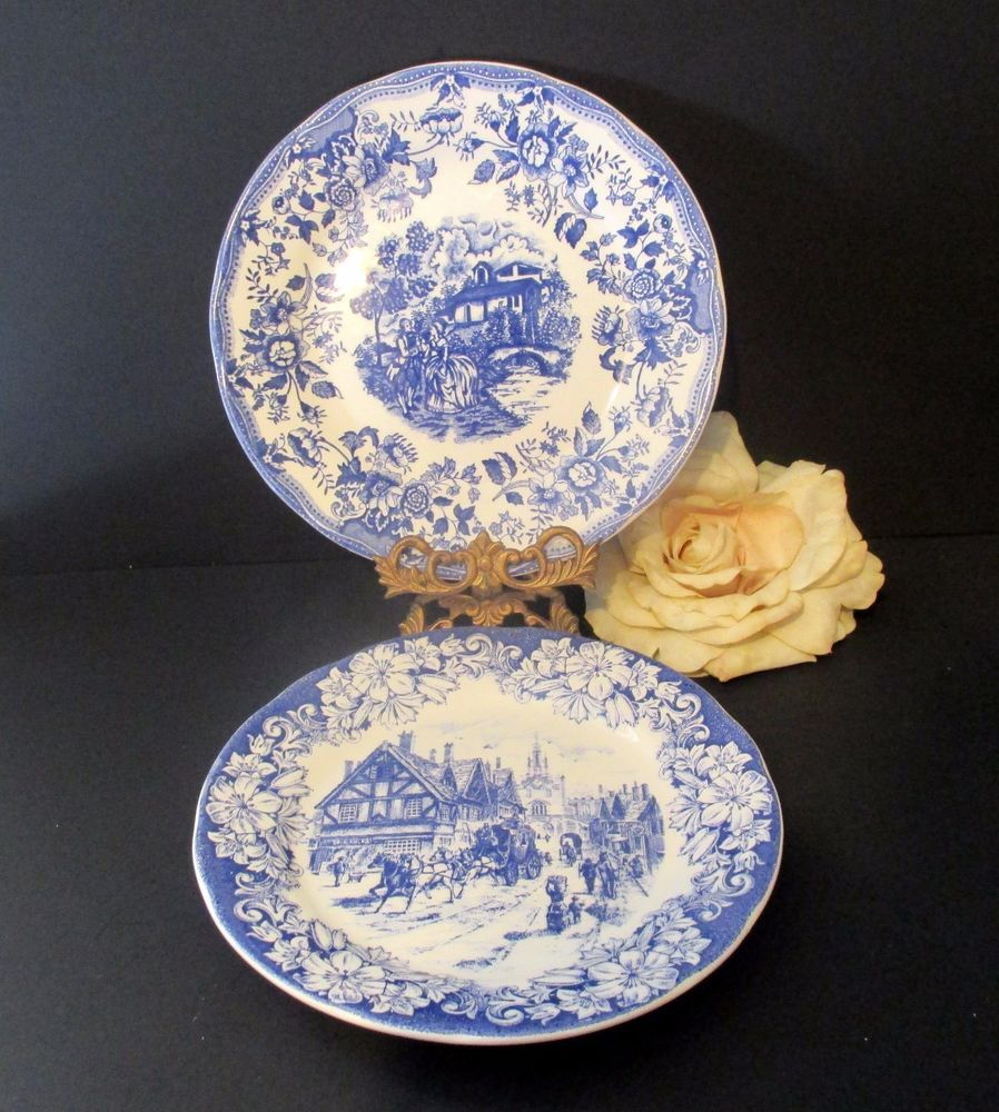 blue white ironstone tableware plates italy beautiful wall decor