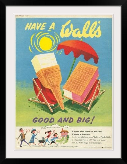 Wall S Ice Cream Advertisement 1959 Vintage 1950s Food Ads