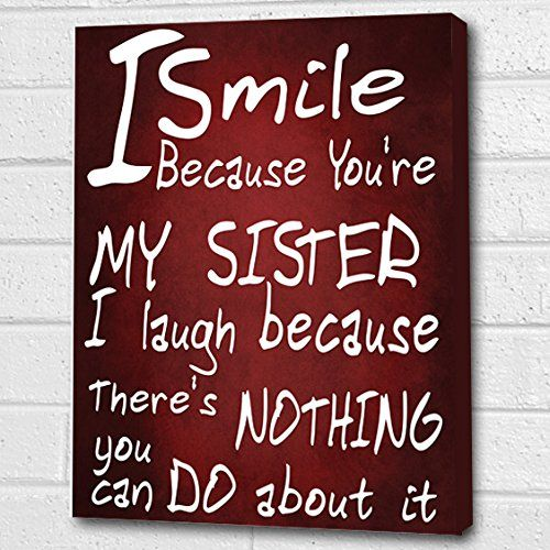 You're My Sister...Wall Quote *Deep Red* Print on Box Canvas A4 Cheryl Monaghan http://www.amazon.co.uk/dp/B00Z6N1KW8/ref=cm_sw_r_pi_dp_kHxDvb0ECK37G