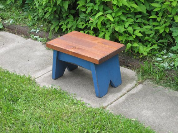 Wooden Step Stool ,Small Wooden Bench, Kitchen Stool, Kids Stool,Country  Stool