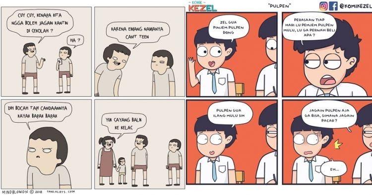 26 Gambar Kartun Lucu Hari Kemerdekaan 12 Komik Strip Lucu Obrolan Anak Sekolah Ini Bikin Ketawa Download 7 Games Seru Untuk Di 2020 Kartun Lucu Komik Lucu Komik