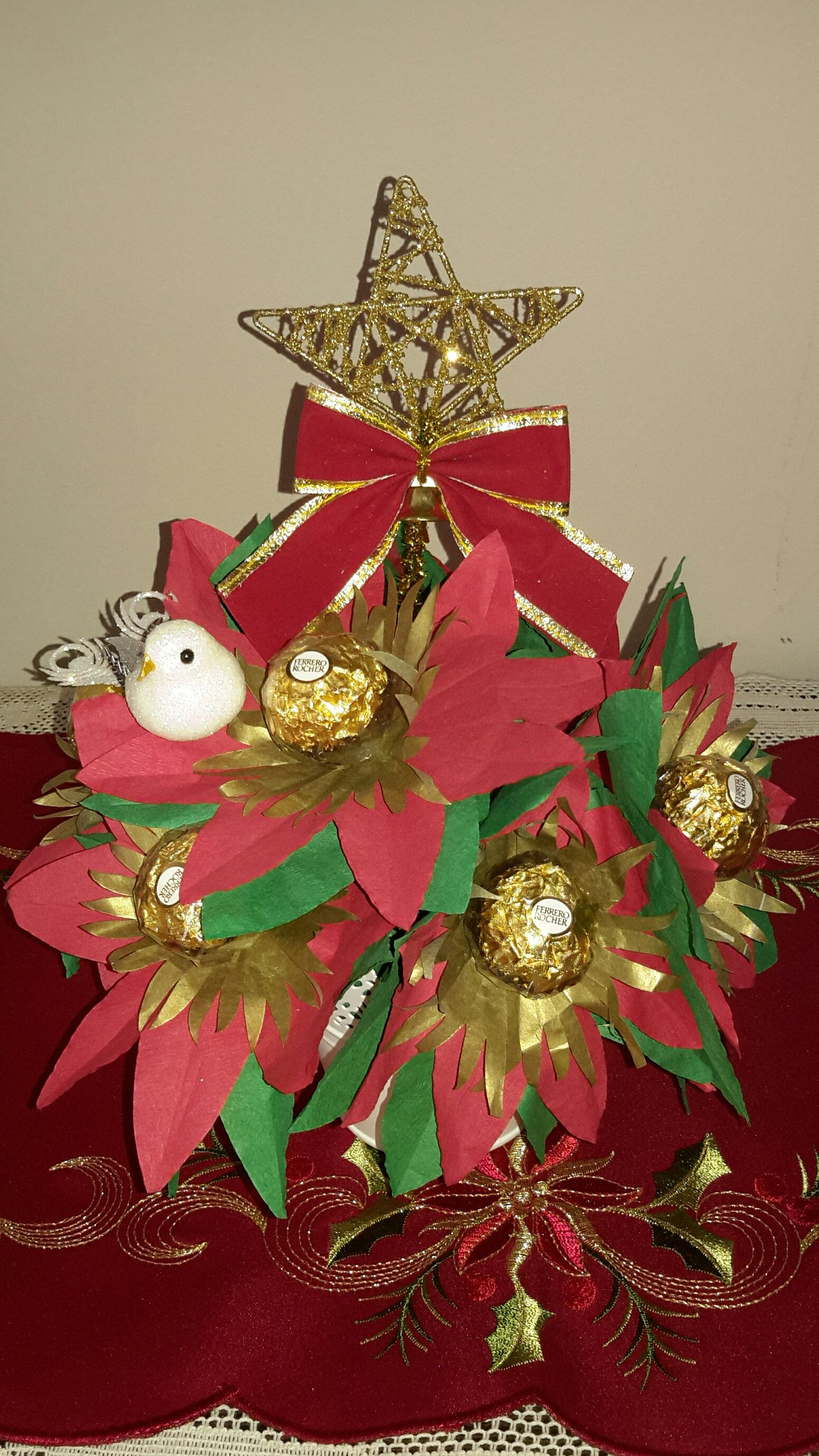 Chocolate bouquet for Christmas