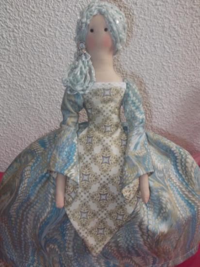 muñeca menina  algodón artesana. a mano