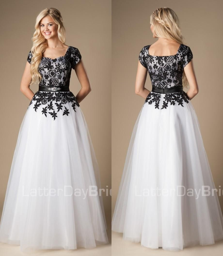 2015-black-and-white-long-a-line-modest-prom