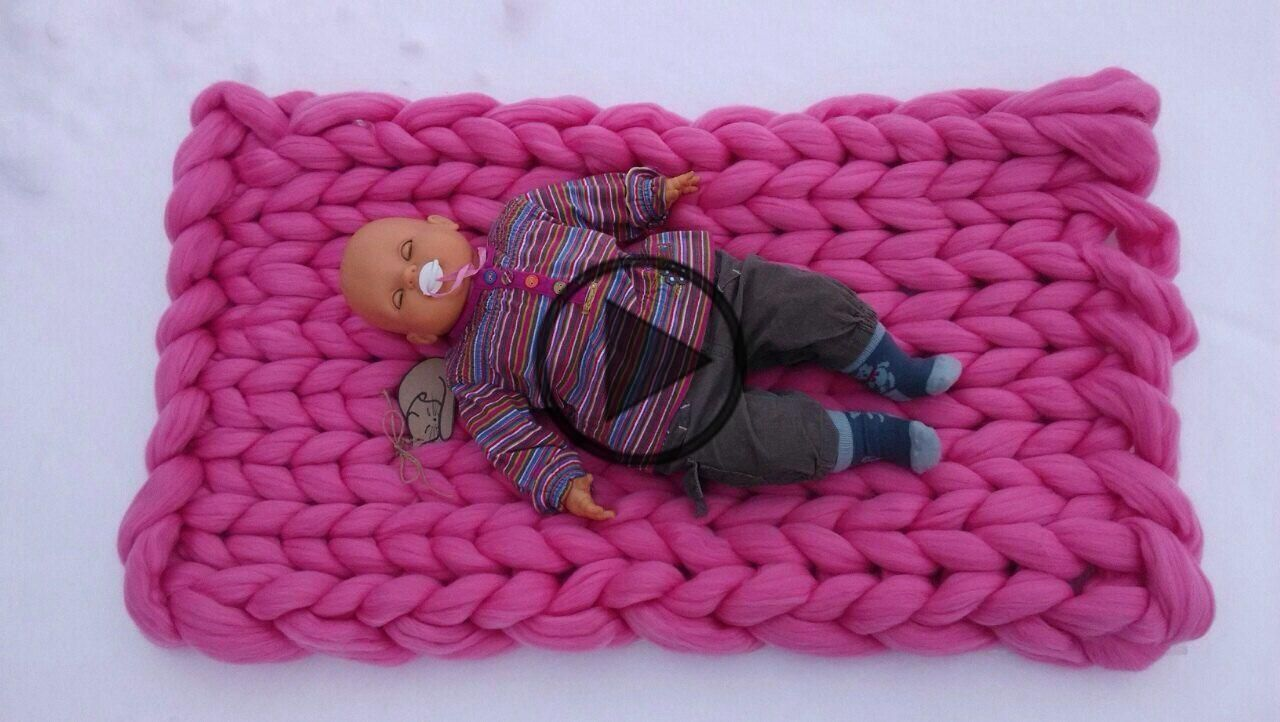Photo of PRICE  blanket  chunky knit blanket   large knit blanket   super chunky knit bla…