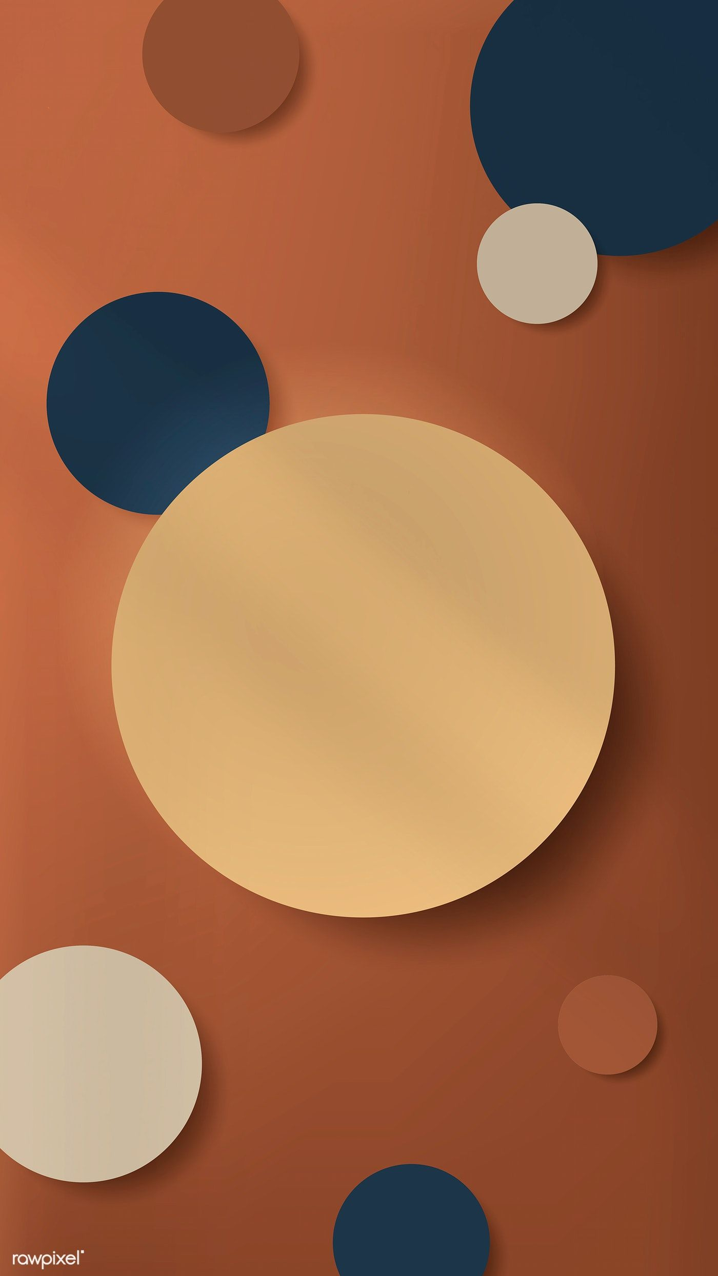 Download premium vector of Colorful round paper cut with drop shadow on