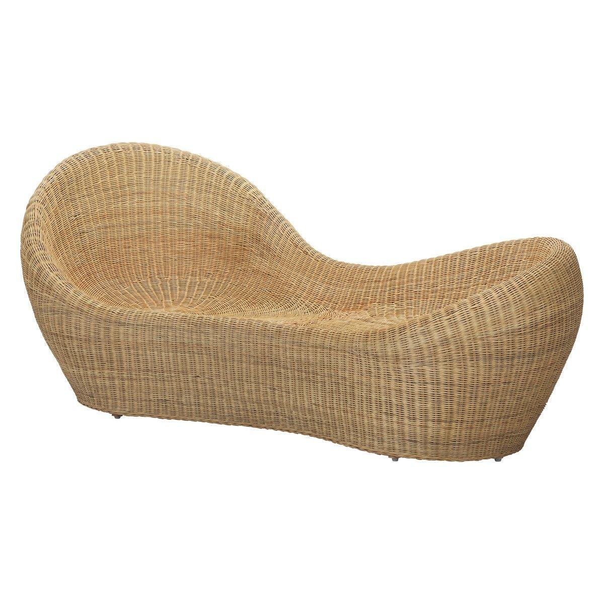 Betel rattan garden chaise textures textiles wood concrete