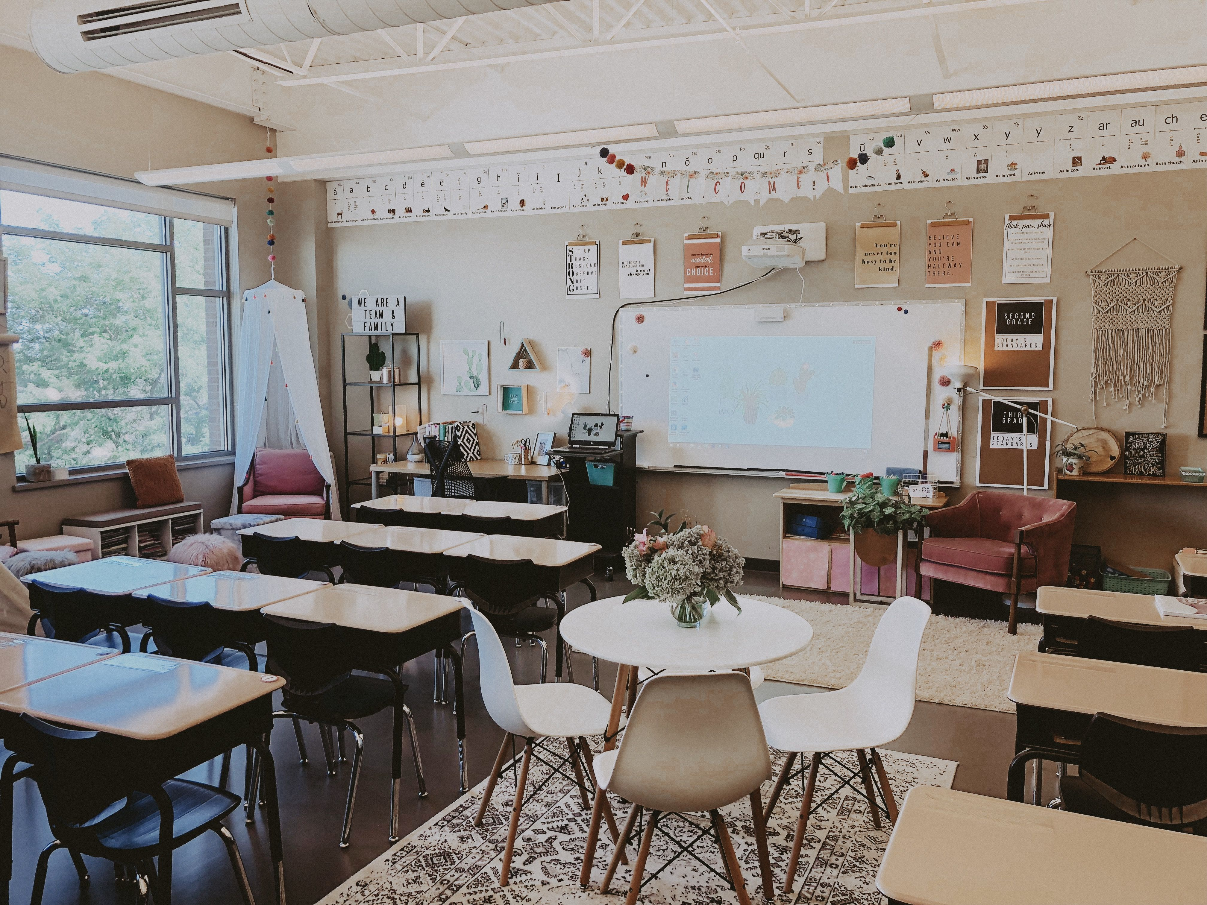 classroom goals. @megpoulson   English classroom decor ...