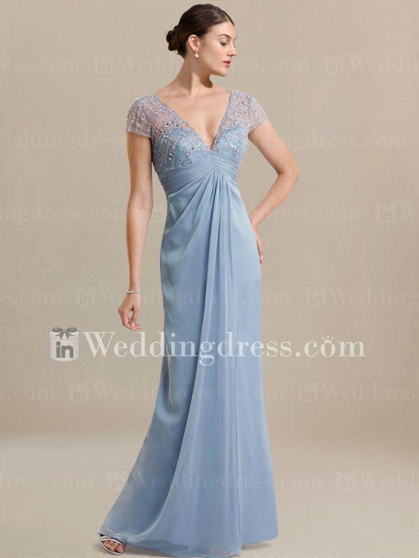 chiffon one shoulder wedding dress with lace bc160n wedding greywedding beachsummer weddingcasual weddingmother bride