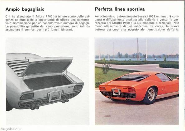 Lamborghini Miura P 400 sales brochure page 6
