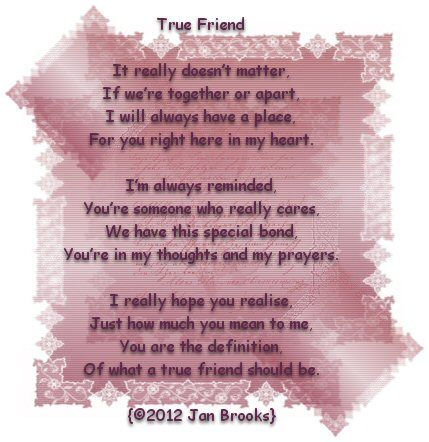 Poem- True Friend | Poems | Pinterest | True friends and Poem