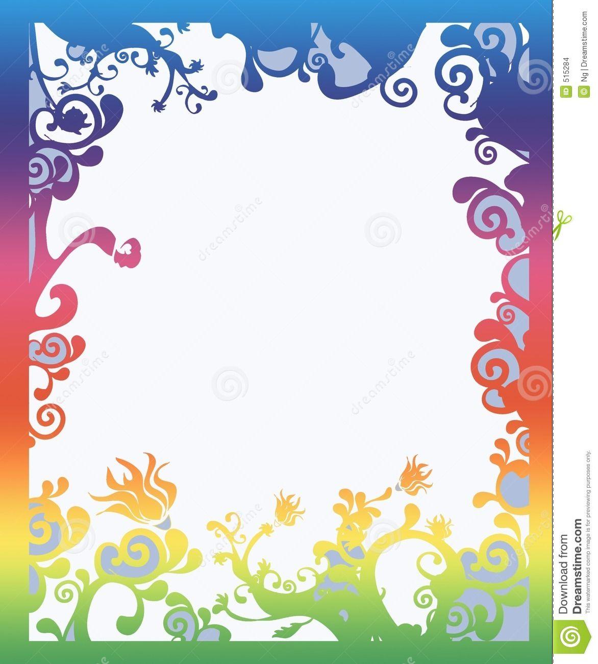 Beautiful Rainbow Colored Border With Copy Space Sponsored Rainbow Beautiful Copy Space Colored In 2021 Border Design Decorative Borders Rainbow Colors