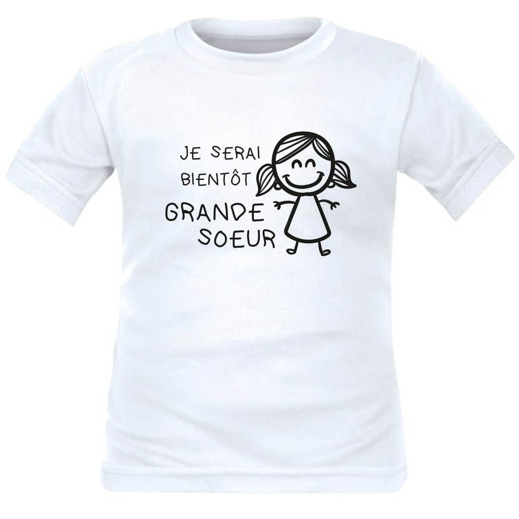 Tee Shirt Enfant Pour Future Grande Soeur Je Serai Bientôt Grande