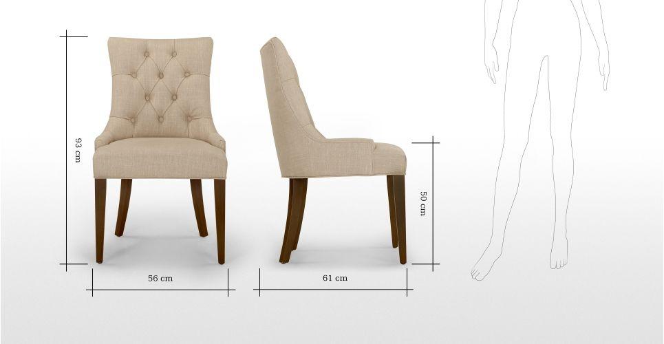 Flynn Scoop Back Chair In Biscuit Beige Made Com Master Bedroom