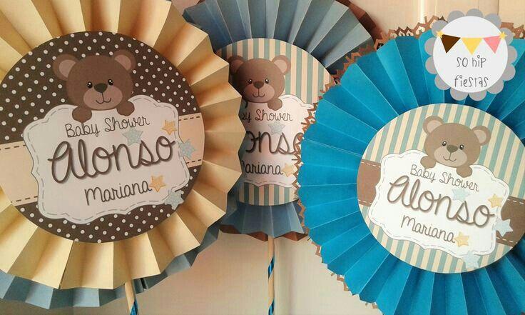24 Distintivos de baby shower de nino