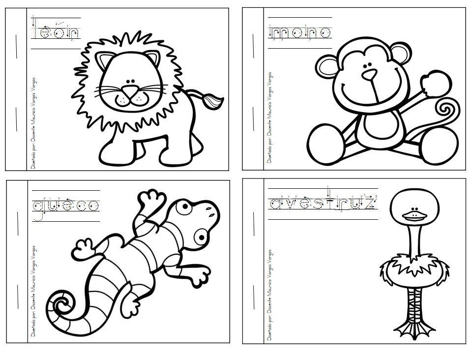 Mi libro de colorear de animales salvajes (3) | Actividades Ciencia ...
