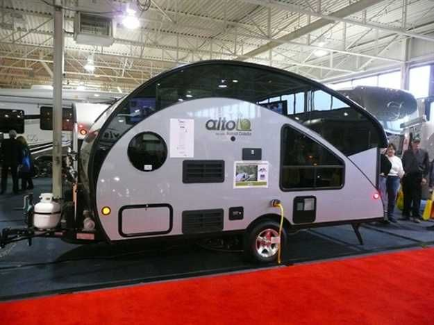 Tiny Camping Trailers so cal teardrops Small Travel Trailers From Toronto Rv Show Offering Comfort And Style