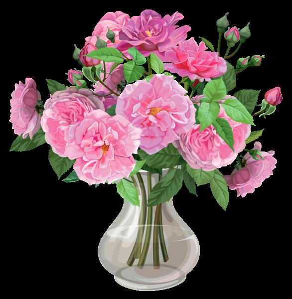 pink roses in vase transparent png clipart roses for you pinterest pink roses clip art. Black Bedroom Furniture Sets. Home Design Ideas