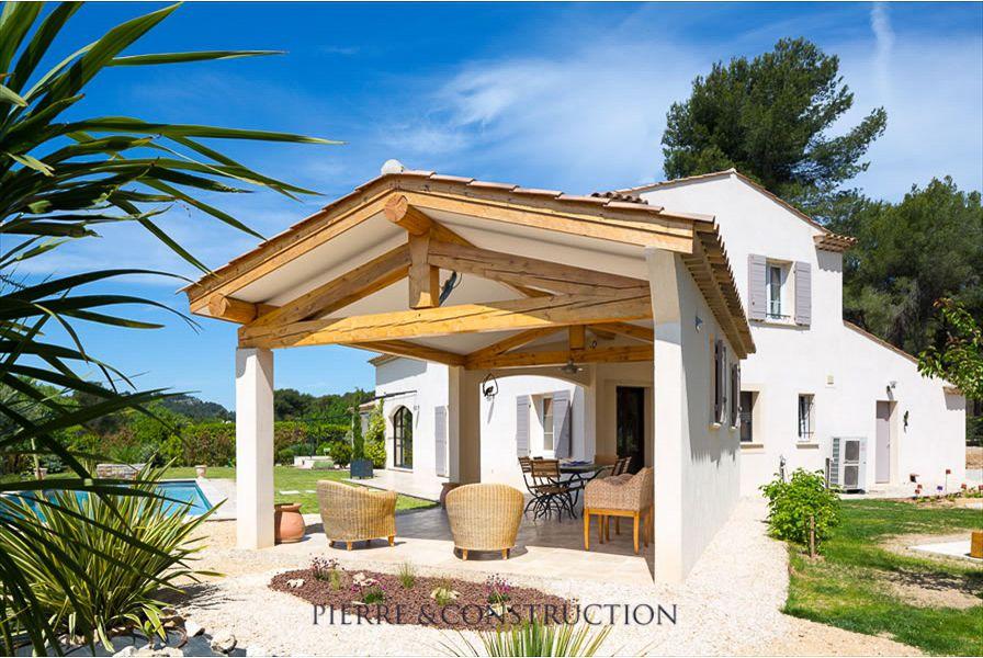 realisation villa provencale auvent pinterest terrasses auvents et plans maison. Black Bedroom Furniture Sets. Home Design Ideas
