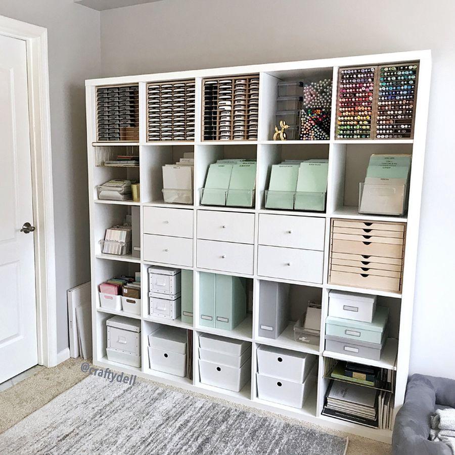 Ikea Kallax Stamp N Storage Ikea Kuggus Scrapbook Room Organization Room Organisation Craft Room Organization
