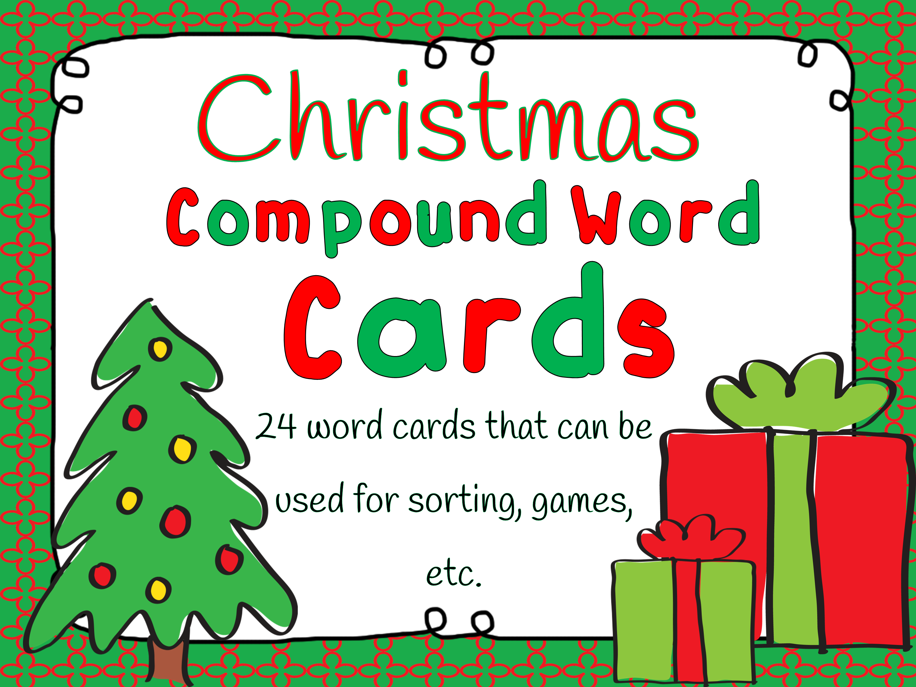 This Christmas Freebie Includes 24 Words Cards That Can Be