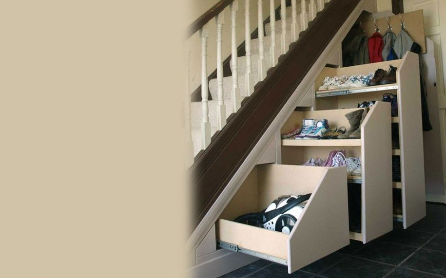 Under Stairs Closet Design Is Part Of Brilliant Shoe Rack