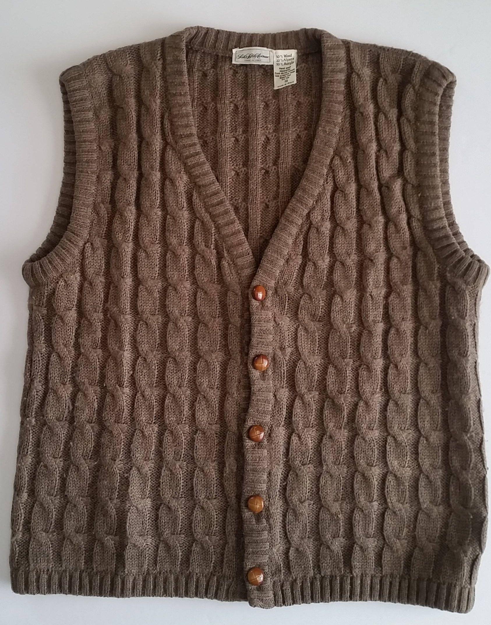 Men's Sweater Vest Wool Alpaca Blend Men's Small SAKS FIFTH AVENUE ...