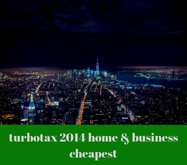 Turbotax 2014 Home Business Cheapest 139 20190401101801 49