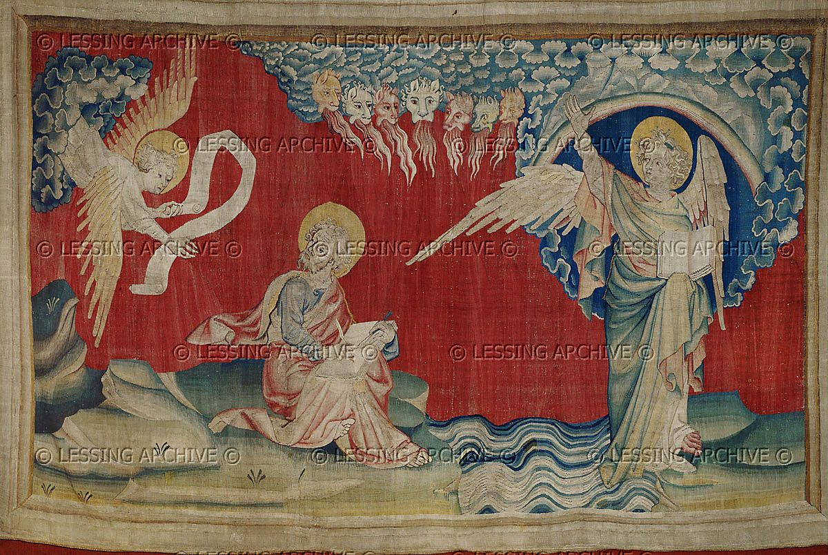 Tapisserie Om Bataille Nicolas 1373 1387 Apocalypse D Angers 1373 1387 A
