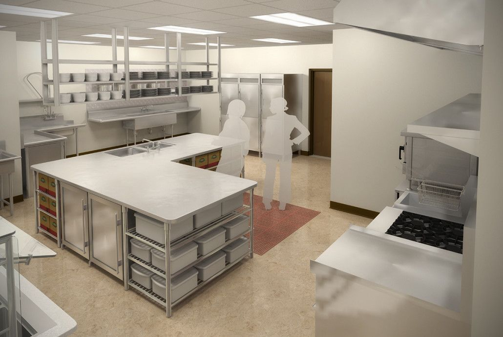 Church Facility Kitchen Design 3D Renderingprevision 3D Llc New Kitchen 3D Design 2018