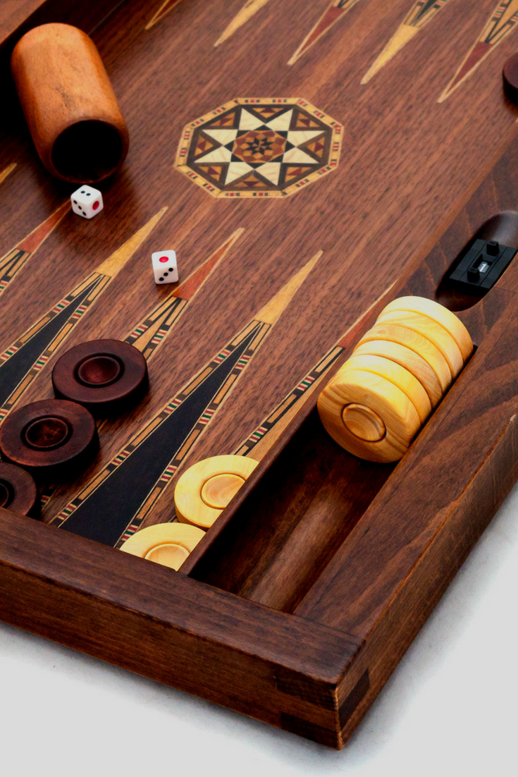 Asia Model Backgammon Walnut | Backgammon Set, Backgammon Game, Gift for Him, Gift for Husband, Gift for Dad, Gift for Boyfriend