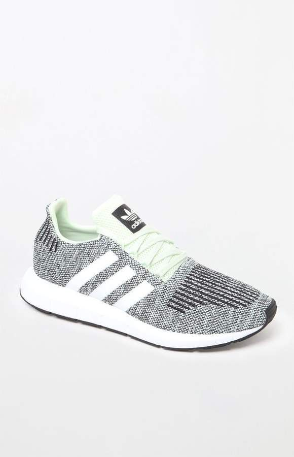 845a88432db adidas Swift Run Green   White Shoes