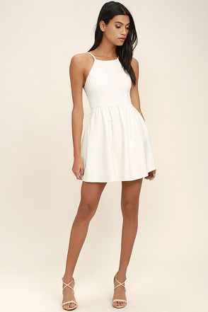 31eca30ed49 Cute Black   White Graduation Dresses at Lulus.com