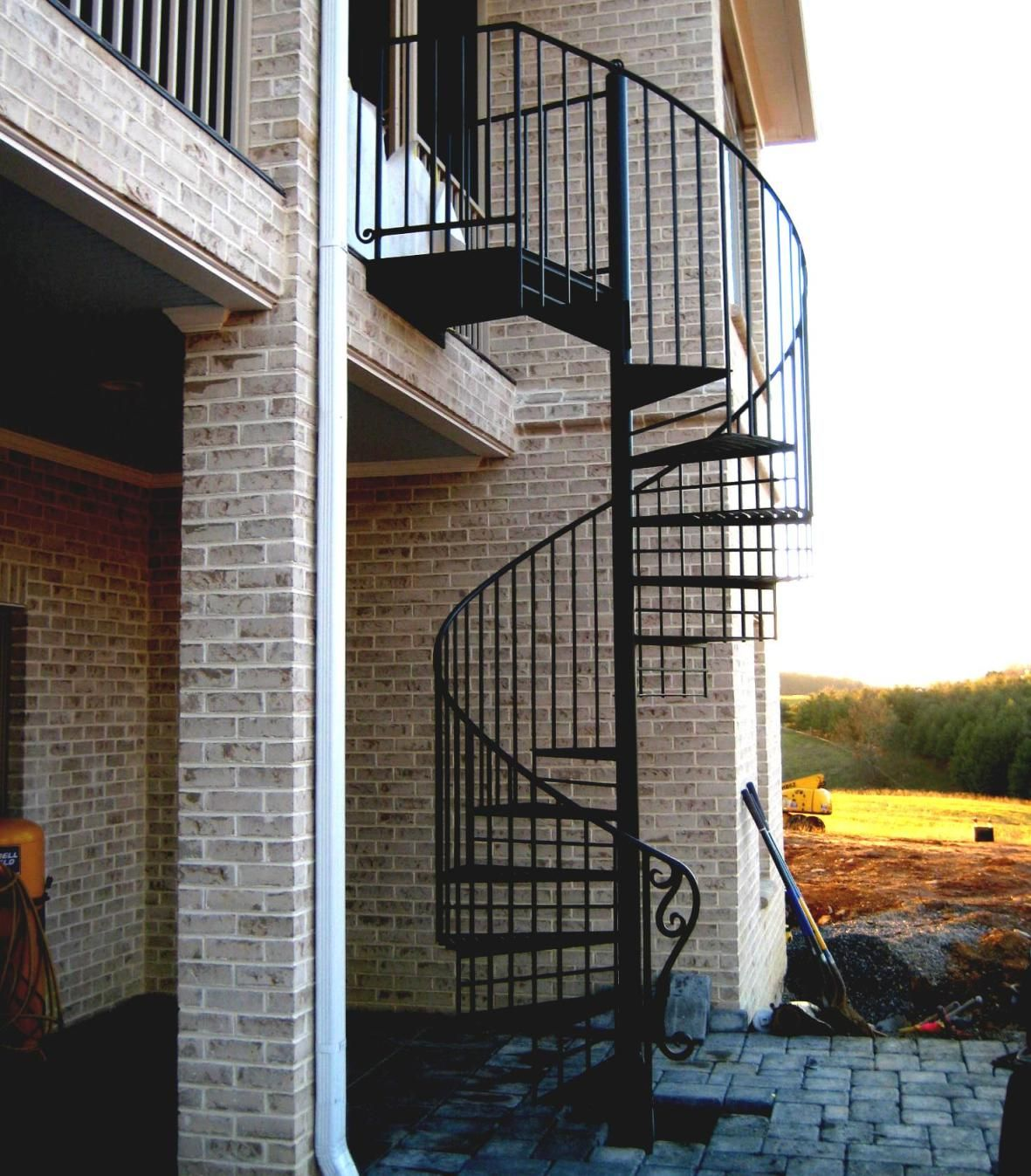 Best Outdoor Steel Spiral Staircase Staircase Outdoor 400 x 300